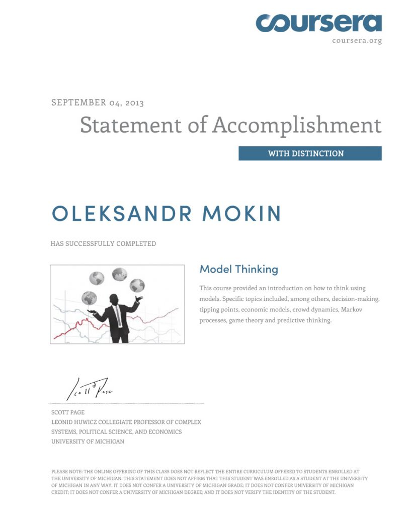 Model Thinking - Statement of Accomplishment