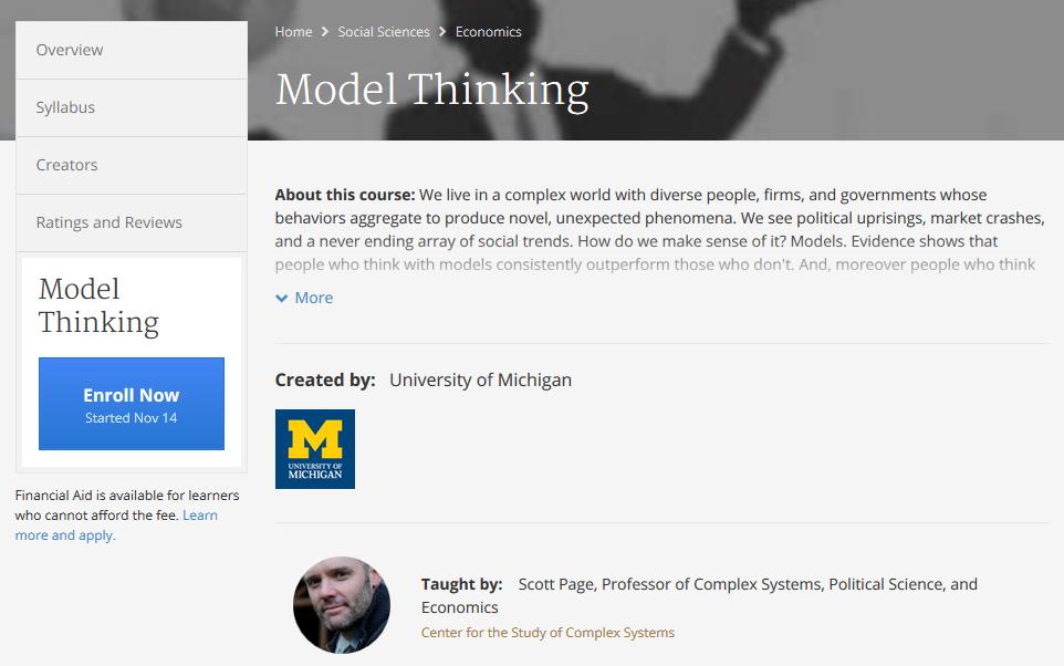 Model Thinking
